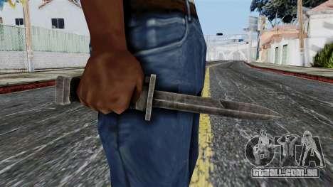 Allied Knife from Battlefield 1942 para GTA San Andreas terceira tela