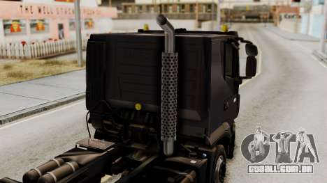 Volvo Truck from ETS 2 para GTA San Andreas vista traseira