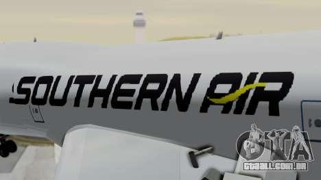 Boeing 747 Southern Air para GTA San Andreas vista traseira