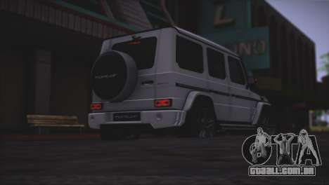 Mercedes Benz G65 AMG 2015 Topcar Tuning para GTA San Andreas vista inferior