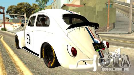 Volkswagen Beetle Herbie Fully Loaded para GTA San Andreas esquerda vista