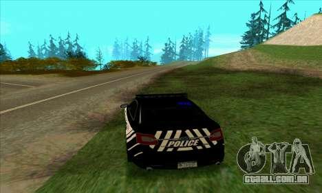 Federal Police Ford Taurus HSO para GTA San Andreas traseira esquerda vista