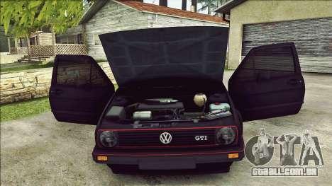 Volkswagen Golf Mk2 Line para GTA San Andreas vista inferior