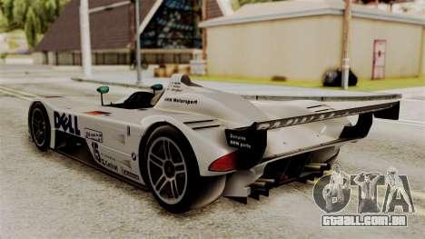 BMW V12 LMR 1999 Stock para GTA San Andreas esquerda vista