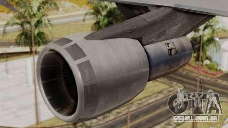 Boeing 747 TransAero para GTA San Andreas vista direita