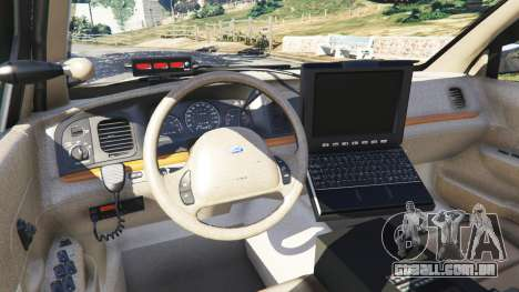 GTA 5 Ford Crown Victoria 1999 Police v0.9 vista lateral direita