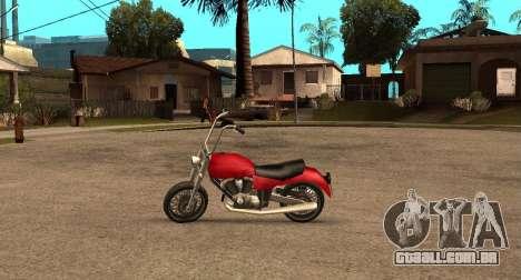 Deamon SA Style para GTA San Andreas esquerda vista