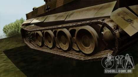 Panzerkampfwagen VI Ausf. E Tiger para GTA San Andreas traseira esquerda vista