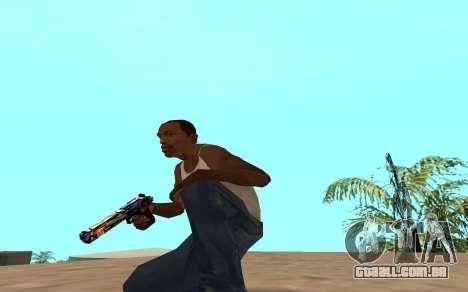 Desert Eagle com um filhote de tigre para GTA San Andreas terceira tela