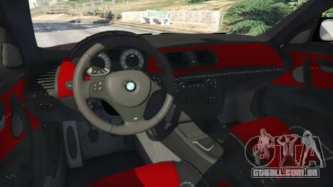 GTA 5 BMW 1M v1.1 traseira direita vista lateral