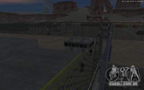 Nova Base Militar v1.0 para GTA San Andreas décimo tela