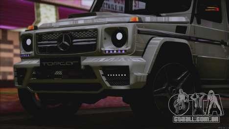Mercedes Benz G65 AMG 2015 Topcar Tuning para GTA San Andreas vista superior