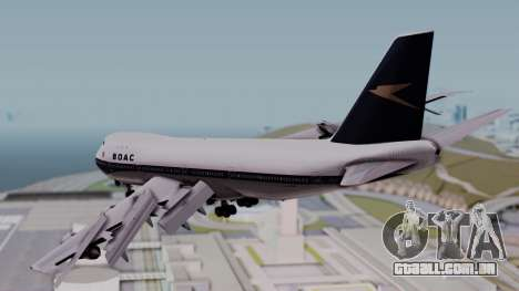 Boeing 747-100 British Overseas Airways para GTA San Andreas esquerda vista