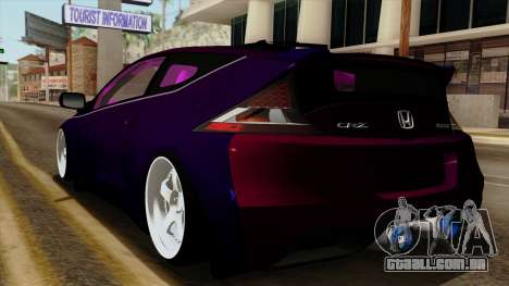 Honda CRZ Hybrid para GTA San Andreas esquerda vista