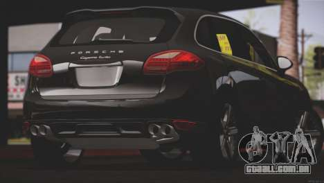 Porsche Cayenne Turbo 2012 para GTA San Andreas vista inferior