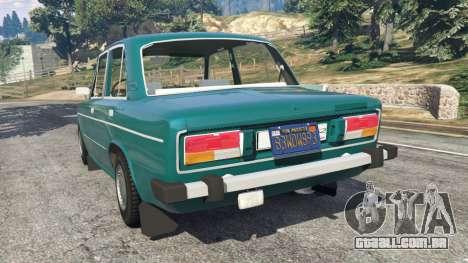 GTA 5 VAZ-2106 v0.2 traseira vista lateral esquerda
