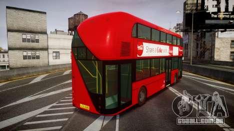 Wrightbus New Routemaster Stagecoach para GTA 4 traseira esquerda vista