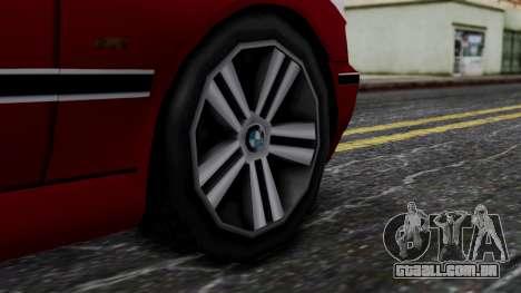 BMW M5 E39 SA Style para GTA San Andreas traseira esquerda vista