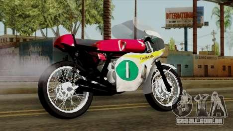 Honda RC166 v2.0 World GP 250 CC para GTA San Andreas esquerda vista