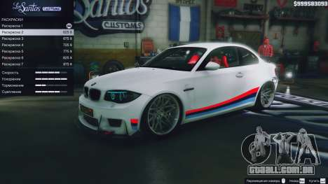 GTA 5 BMW 1M v1.0 volante