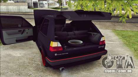 Volkswagen Golf Mk2 Line para GTA San Andreas vista traseira