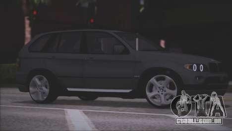 BMW X5 E53 para GTA San Andreas vista inferior