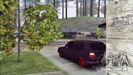 Volkswagen Golf Mk2 Line para GTA San Andreas traseira esquerda vista