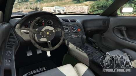 GTA 5 Mazda RX-7 C-West v0.3 traseira direita vista lateral