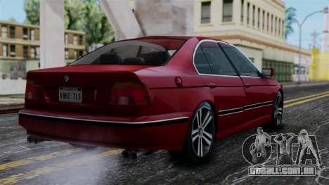 BMW M5 E39 SA Style para GTA San Andreas esquerda vista