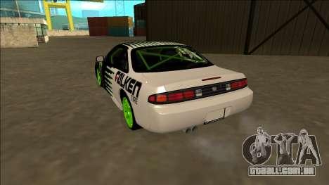 Nissan 200SX Drift Monster Energy Falken para GTA San Andreas traseira esquerda vista