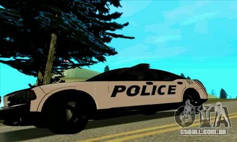 Federal Police Dodge Charger SRT8 para GTA San Andreas esquerda vista
