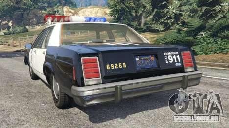 Ford LTD Crown Victoria 1987 LSPD para GTA 5