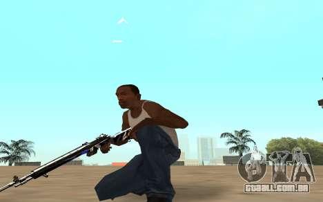 Rifle com um filhote de tigre para GTA San Andreas por diante tela