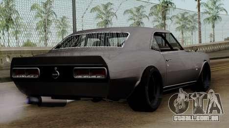 Chevrolet Camaro SS para GTA San Andreas esquerda vista