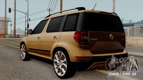 Skoda Yeti 2014 para GTA San Andreas esquerda vista