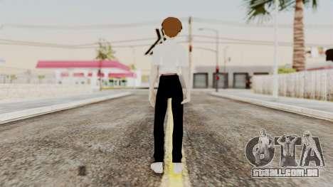 Shinji Ikari (Evangelion) para GTA San Andreas terceira tela