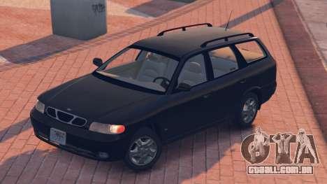 GTA 5 Daewoo Nubira eu Vagão-NOS DE 1999 - versão FINA traseira vista lateral esquerda