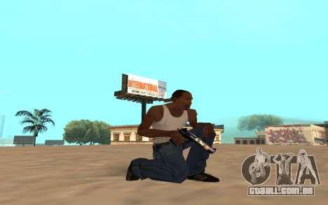 Desert Eagle com um filhote de tigre para GTA San Andreas por diante tela