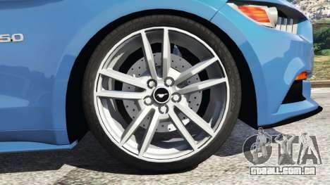 GTA 5 Ford Mustang GT 2015 traseira direita vista lateral