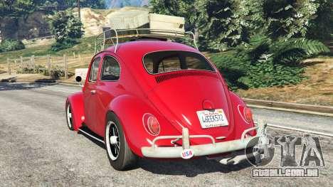GTA 5 Volkswagen Beetle 1963 [Beta] traseira vista lateral esquerda