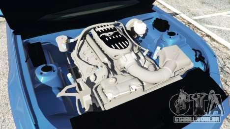 GTA 5 Ford Mustang GT 2015 frente vista lateral direita