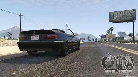 GTA 5 BMW M3 E36 Cabriolet 1997 voltar vista