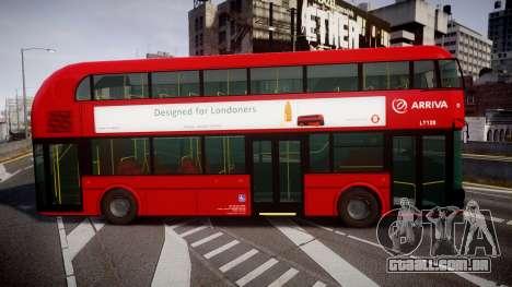 Wrightbus New Routemaster Arriva para GTA 4 esquerda vista