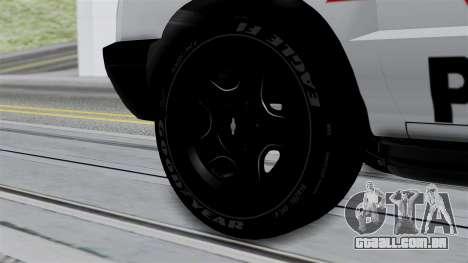 Chevrolet Blazer 2010 para GTA San Andreas traseira esquerda vista
