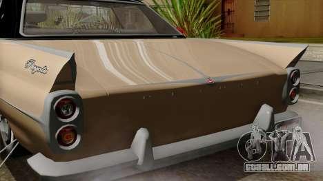 Vapid Peyote Bel-Air para GTA San Andreas vista interior