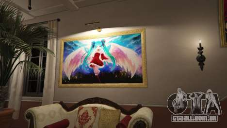 Anime cartazes para a casa de Michael para GTA 5