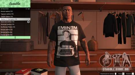 GTA 5 Franklin Hip Hop T-Shirts quarto screenshot