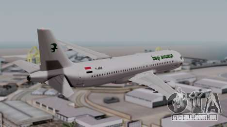 Airbus A320-200 Iraqi Airways para GTA San Andreas esquerda vista