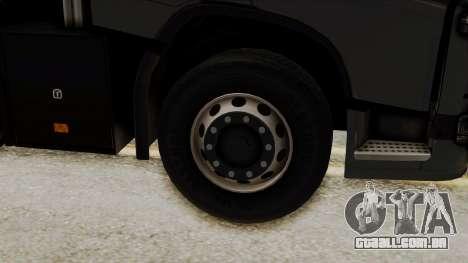 Volvo FH Euro 6 10x4 Exclusive Low Cab para GTA San Andreas traseira esquerda vista