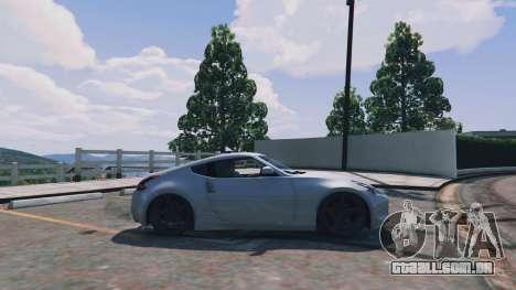 GTA 5 Nissan 370z vista lateral esquerda